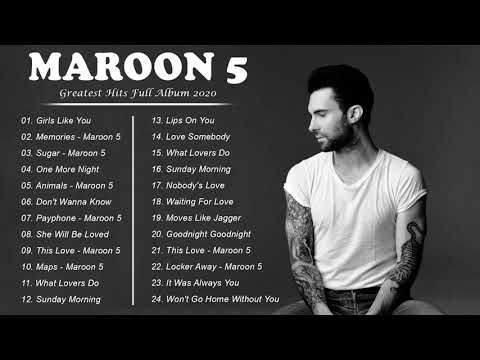 Maroon 5 Greatest Hits Full Album 2020 Maroon 5 Best Songs Playlist 2020 Youtube Best Songs Album Songs Song Playlist