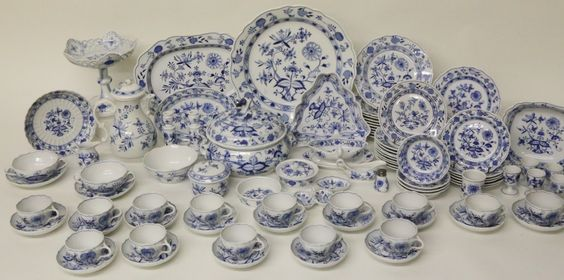 Collection of Meissen Blue Onion Pattern China | July 5, 2014 Auction at Rafael Osona Auctions Nantucket, MA