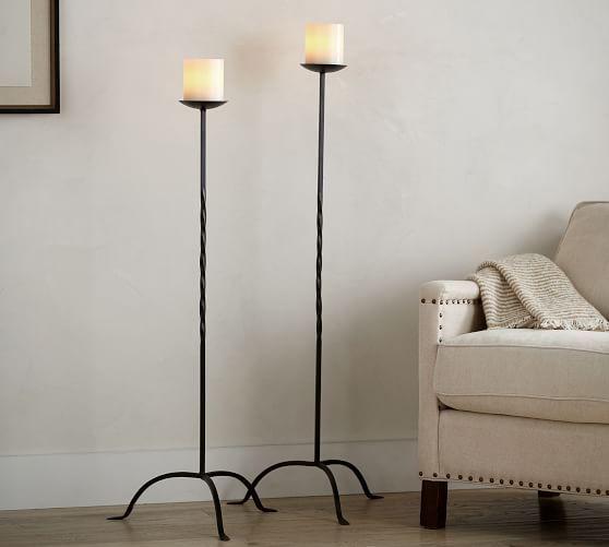 Floor Standing Pillar Candle Holder Tall Candle Holders Floor Candle Holders Floor Candle Holders Tall