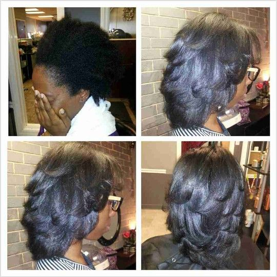 Silk Straightening Natural Hair