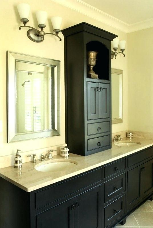 Storage Cabinets That Go Between Mirrors In Bathroom Ideas 791