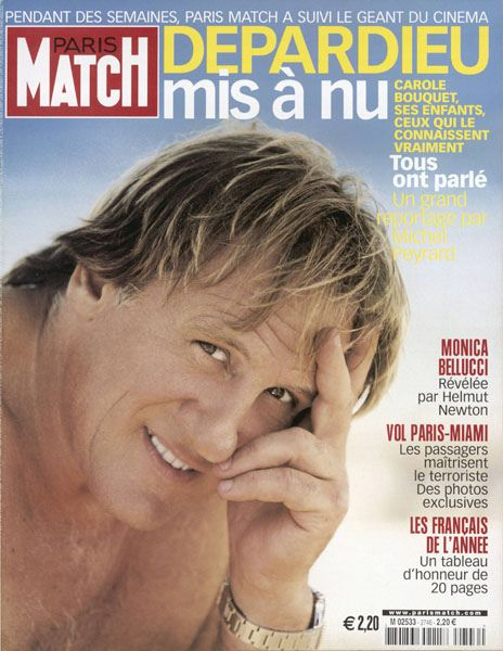 couverture du paris match n 2746 depardieu mis a nu by patrick peccatte via flickr paris. Black Bedroom Furniture Sets. Home Design Ideas