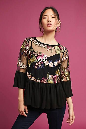 Ornate Embroidery Top | holiday fashion