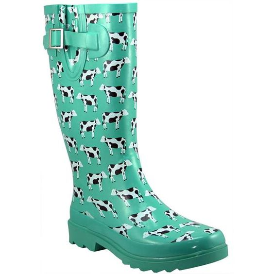 They&39re COWS!!!! Western Chief Women&39s Cow Corral Rain Boots (Size
