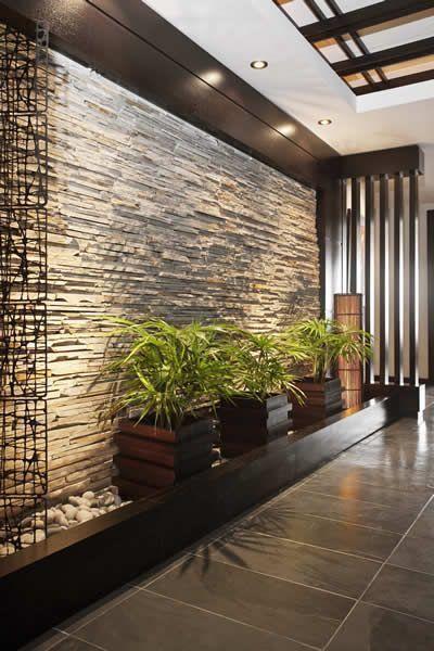 45 Ideas Diseños Y Decoración Para Salones Muros De Piedra Interiores Entradas De Casas Muros De Piedra