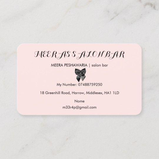 Beautician Chic Parisian Pink Polka Dots Black Bow Business Card Zazzle Com Pink Polka Dots Dots Black Bow