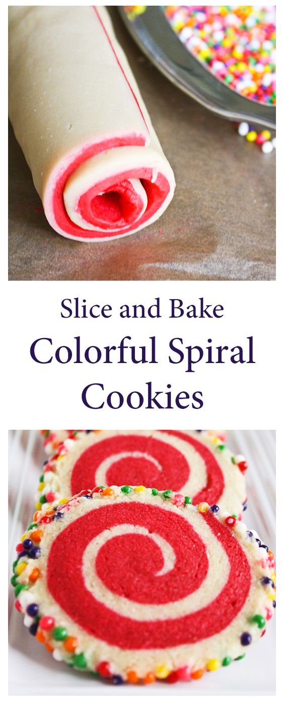 Sprinkle Bakes: Colorful Spiral Cookies