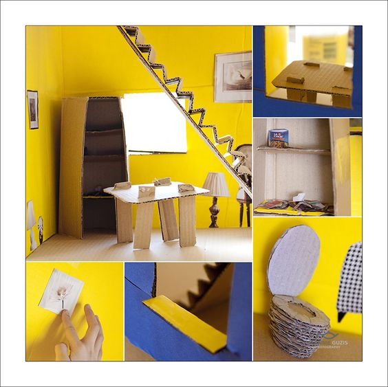 Cardboard Dollhouse Make Your Own Doll House
