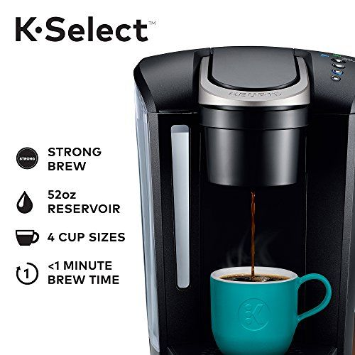 Single Serve K Cup Pod With Strength Control And Hot Water On Demand Keurig Coffee Makers Pod Coffee Makers Single Cup Coffee Maker