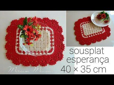 Sousplat Esperanca Jogo Americano Miriam Medina Artes Em Croche Youtube Sousplat De Croche Quadrado Arte Em Croche Sousplat