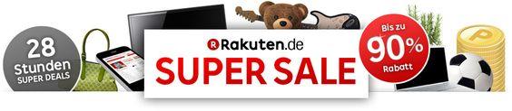 Freuen Sie sich auf das grösste Shopping-Highlight des Jahres!    Den einzigartigen SUPER SALE gibt es nur bei Rakuten und zum allerersten Mal hier in Deutschland.