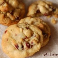 White Chocolate Chip, Craisin and Macadamia Nut Cookies