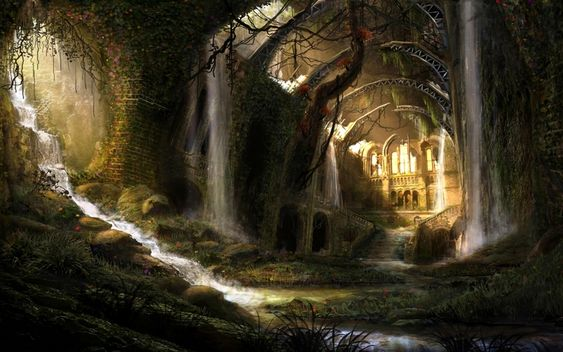 Image result for fantasy forest castle