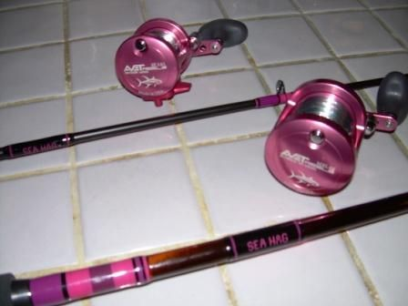 Pink fishing gear for women re pink oceangirl fishing for Ladies fishing rods