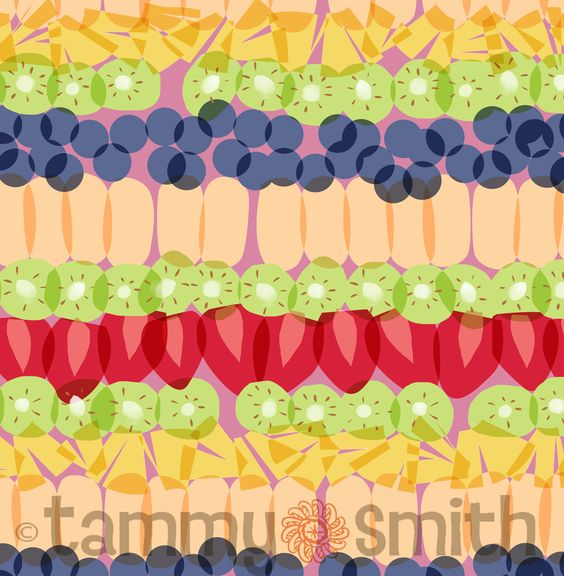 """fruit parfait-a piece from my new collection """"Just Desserts"""" debuting at Surtex booth 368 this year"""