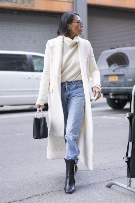 Белое пальто: потрясающая элегантность в любых сочетаниях 7