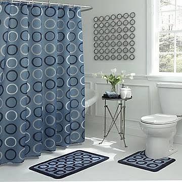 walmart shower curtain bathroom rug set | Blue bathroom ...