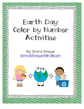 number activities color by numbers and earth day on pinterest. Black Bedroom Furniture Sets. Home Design Ideas