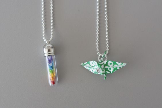 These one of a kind handmade Origami necklaces were made by Sacramento artist @Jen Courtney Lam. Each piece Wingy makes is hand folded and lovingly assembled waiting to be worn. Available at Crocker Art Museum Store.