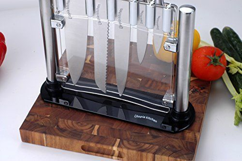 Premium Class Stainless-Steel Kitchen 6 Knife-Set with Acrylic Stand - Chef Knif