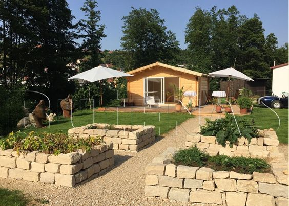 Gartenhaus PANORAMA Plus Satteldach