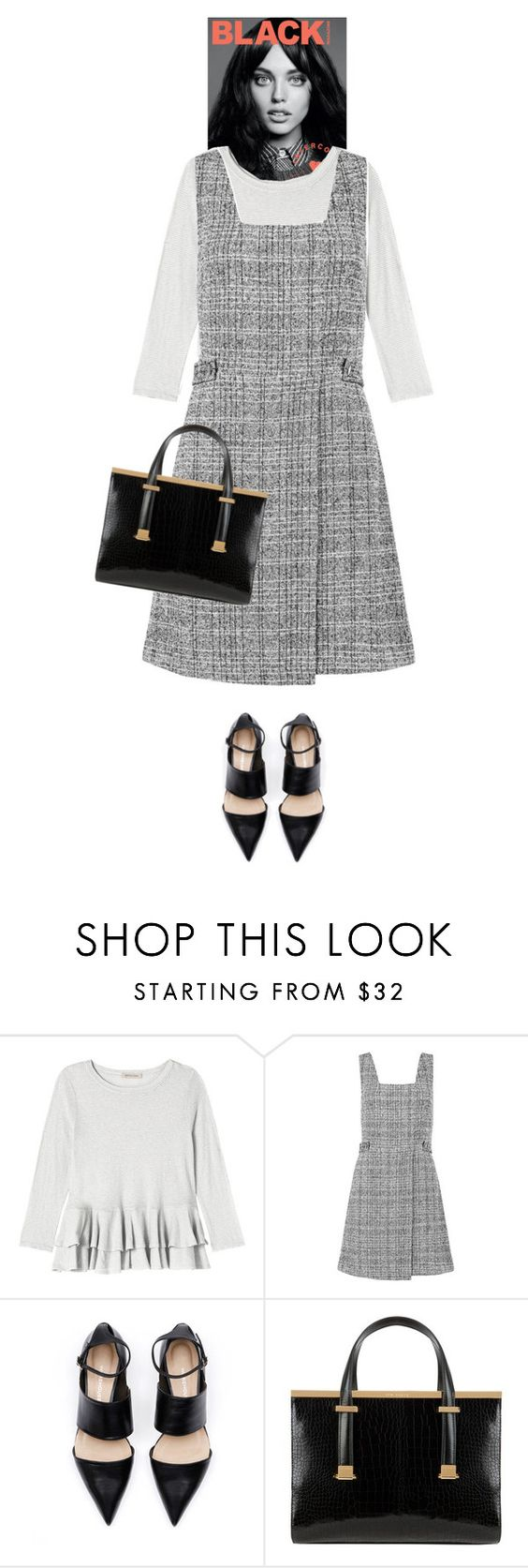 """""""Senaka #6776"""" by canlui ❤ liked on Polyvore featuring Rebecca Taylor, New Look, Ted Baker, dress, dresses, pinafores and 60secondstyle"""
