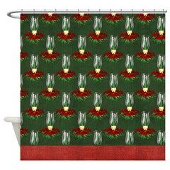 Christmas Lantern Holiday Shower Curtain 1> Christmas Holiday> MarloDee Designs Shower Curtains