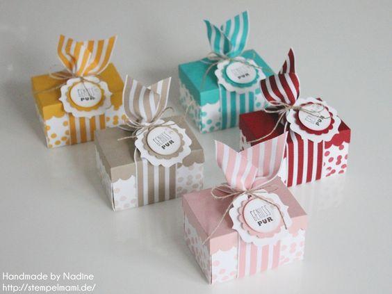 Stampin Up Box Goodie Schachtel Verpackung Give Away Envelope Punch Board Stanz- und Falzbrett fuer Umschlaege Stempelset Dotty Angels Stempelset Sags mit Faehnchen 005