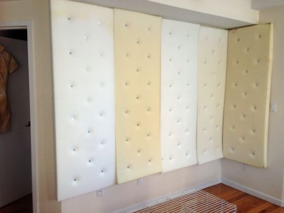 How to make realistic padded walls for your Halloween party; my tutorial, materials, tips, work in progress pics, etc.