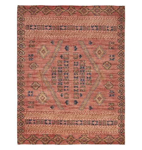 Adair Rust Hand Knotted Rug Rejuvenation Hand Knotted Rugs Rugs Rugs On Carpet