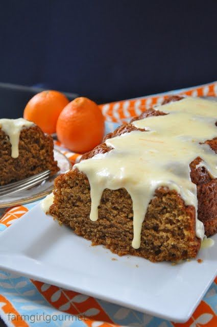 Butternut Squash Olive Oil Cake with Clementine Glaze