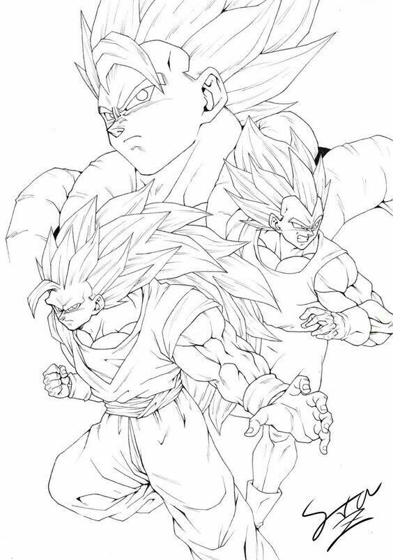 Epingle Par Robert Bolivar Sur Dibujos Y Linearts De Dragon Ball