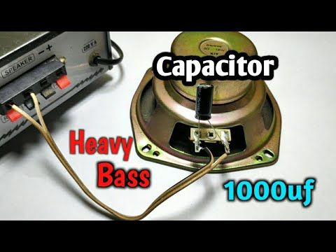 How to increase BASS using Capacitor 1000uf   Bass booster circuit. -  YouTube   Subwoofer wiring, Wiring speakers, Car audio capacitor   Speaker Capacitor Wiring      Pinterest