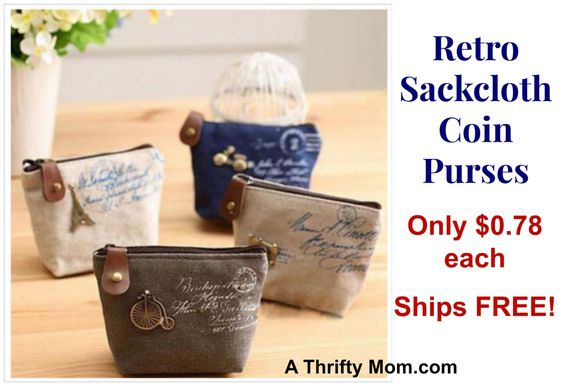 Retro Coin purse only $.79 each, such a fun gift idea