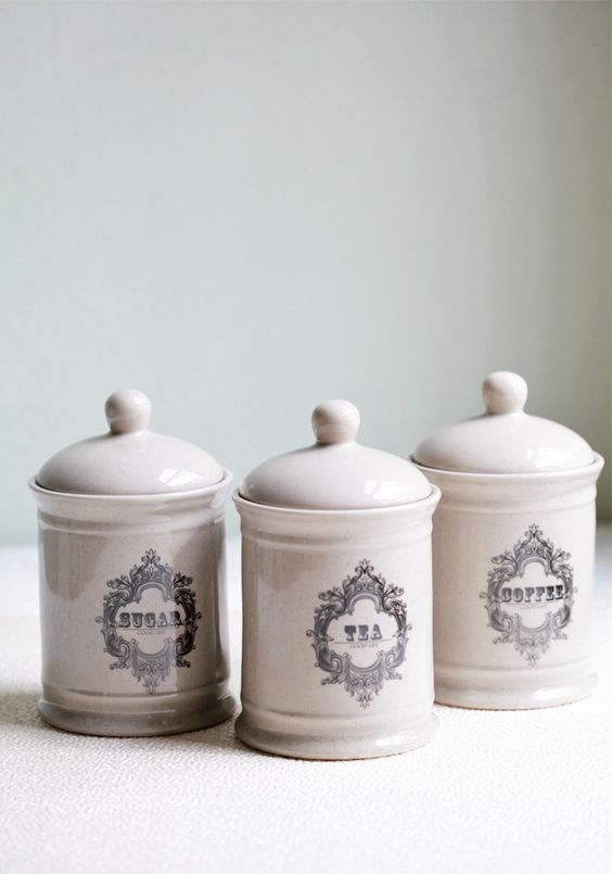 Pinterest the world s catalog of ideas - Modern tea and coffee canisters ...
