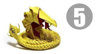 Part2/5 : How to fold Origami Devil Cobra / Hell Cobra 摺紙魔鬼眼鏡蛇教學 - YouTube