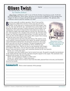 Printables Free Printable 7th Grade Reading Comprehension Worksheets oliver twist comprehension and reading skills free printable 7th grade worksheets about this worksheet