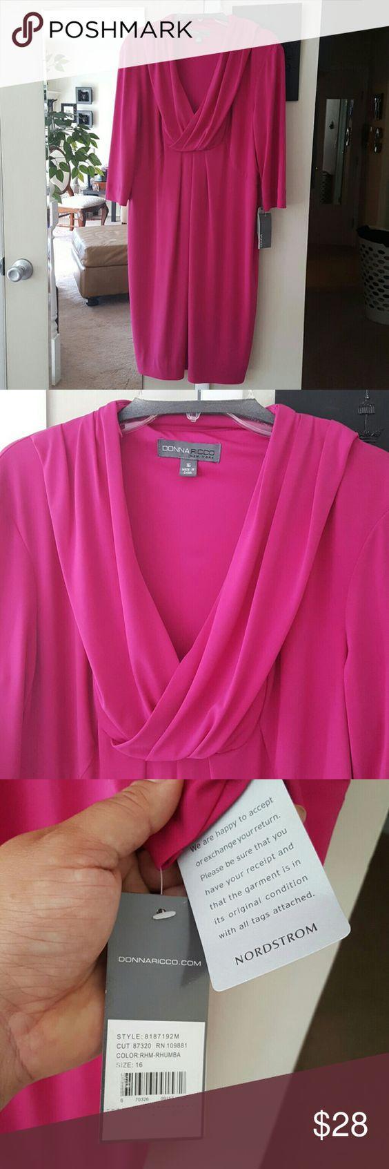 Donna Ricco Pink Dress 16 Donna Ricco Pink Dress 16 NWT true to size Donna Ricco Dresses