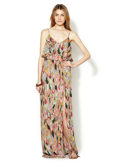 Ruffle Top Printed Maxi Dress by Avaleigh on Gilt.com - love this print.