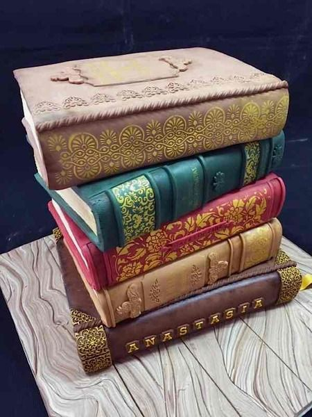 Book cake created by By Cloud 9 Cakes: http://www.cakewrecks.com/home/2015/8/9/sunday-sweets-for-book-lovers-day.html