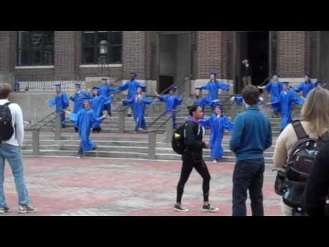 "University of Michigan UM Graduation Flash Mob to Rusted Root's ""Send Me On My Way"""