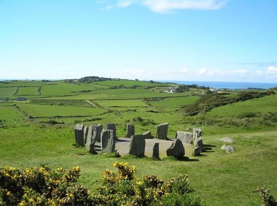 Day 91 - An Irish Stonehenge! A stone circle on the Beara Peninsula. The 3 peninsulas at the Southwest corner - Dingle, Iveragh, & Beara - are possibly the most beautiful places on Earth.