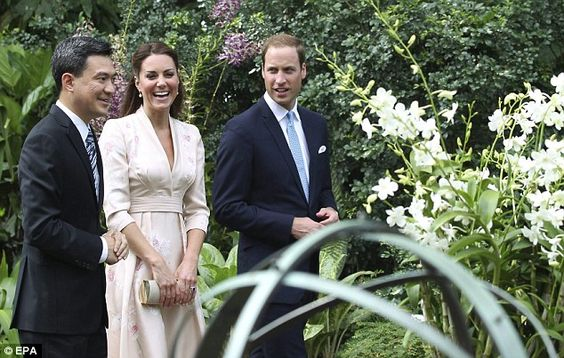 Guided tour: Prince William and Kate were shown around the gardens by CEO of the National Parks Board Poon Hong Yuen