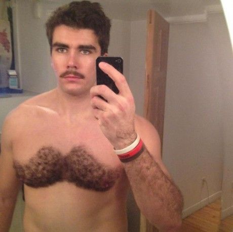Nice mustache.  Nicer ches-tache.