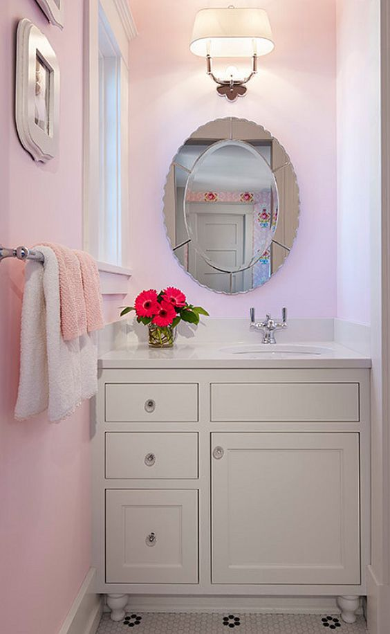 benjamin moore pink girl bathrooms guest bathrooms barbie bathroom