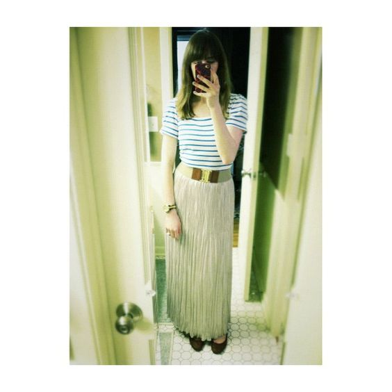 @pjfeinstein found her perfect match for @ClubMonaco's maxi skirt and we love it. #YouBoughtIt