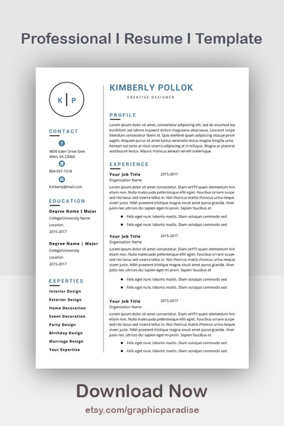 Resume Template Professional Resume Template Instant Download Resume Template Word Cv Cv Template Resume Template Free Resume Template Word Resume Template Resume Template Professional
