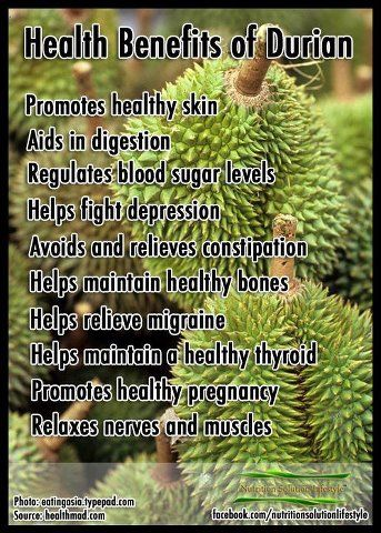 Health benefits of Durian