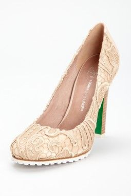 Rawna Pump-I want them...just to sit in my room...their only job-to look pretty!  (But...what's with the green on the heel?)