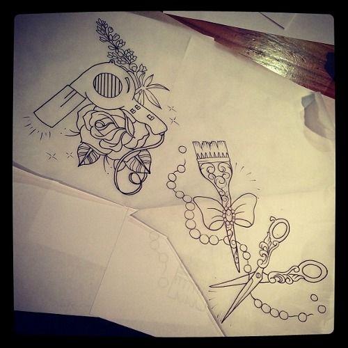 hairdresser tattoos hairdresser and tattoos and body art on pinterest. Black Bedroom Furniture Sets. Home Design Ideas